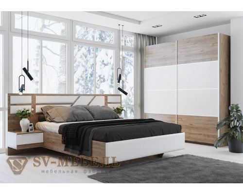 """Модульный спальный гарнитур """"Лагуна 8"""" (SV-мебель)"""